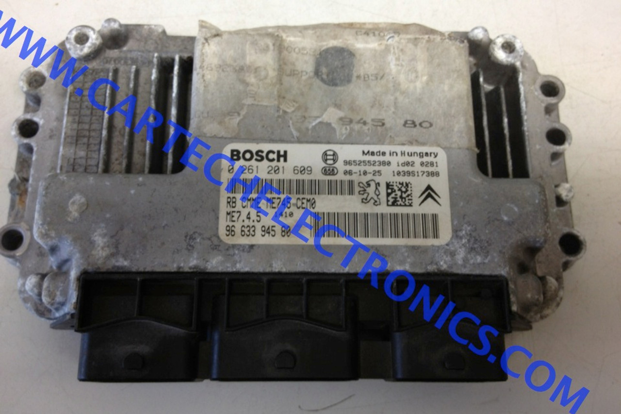 BOSCH Engine ECU, 0261201609, 0 261 201 609, 9663394580, 96 633 945 80