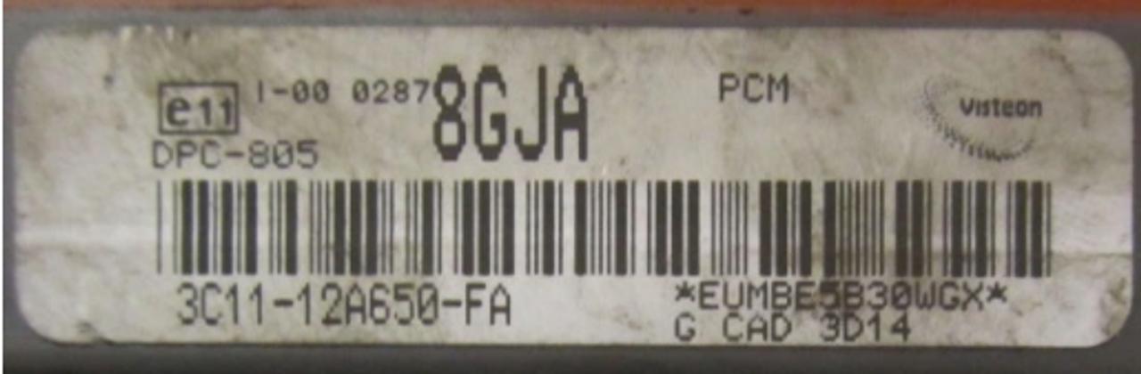 3C11-12A650-FA  3C1112A650FA  8GJA  DPC-805