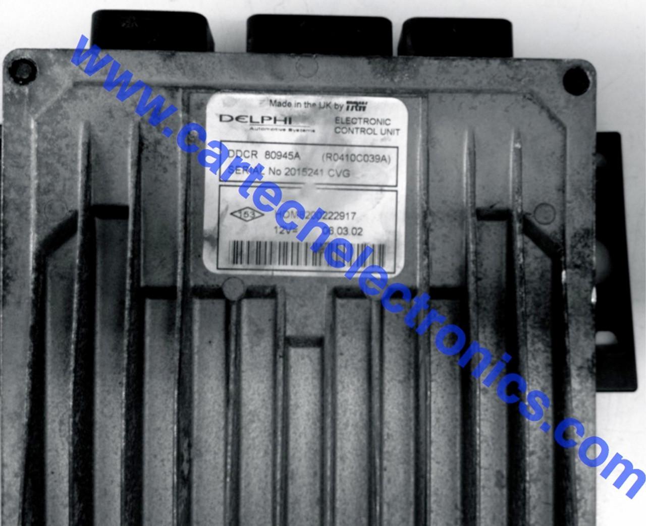 Renault Engine ECU DDCR 80945A R0410C039A HOM8200222917