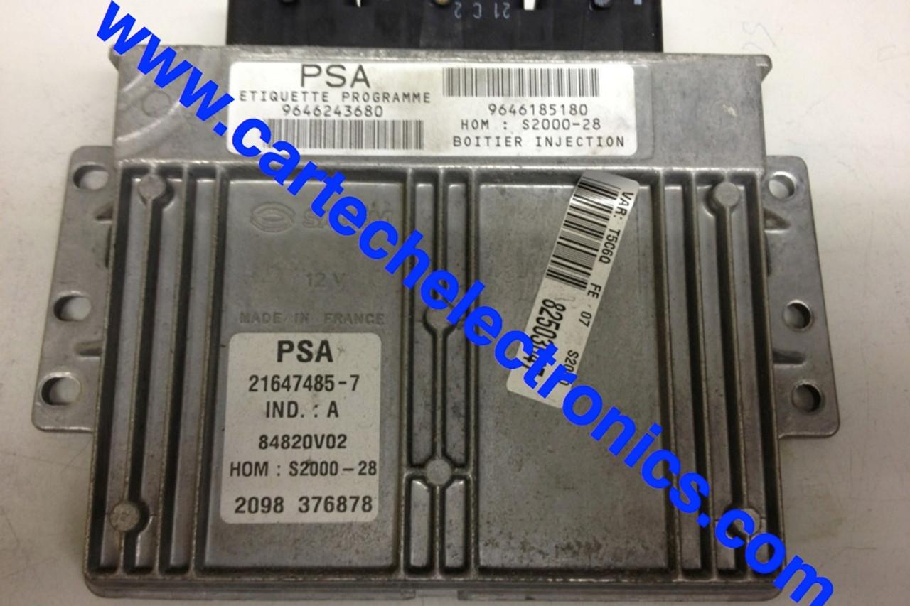 PSA  S2000-28  9646243680  9646185180  21647485-7