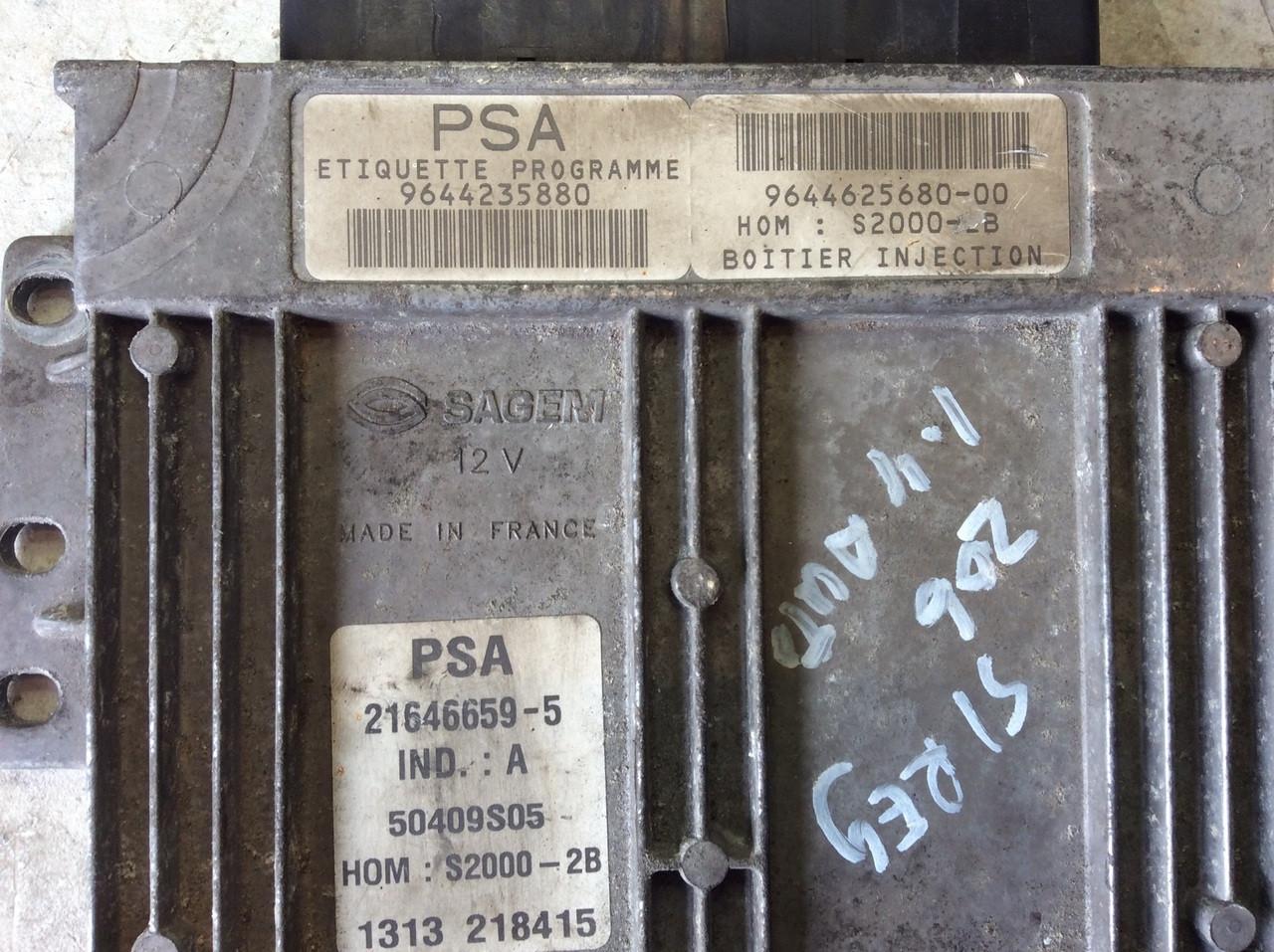PSA, S2000-2B, 9644235880, 9644625680-00, 21646659-5, IND A