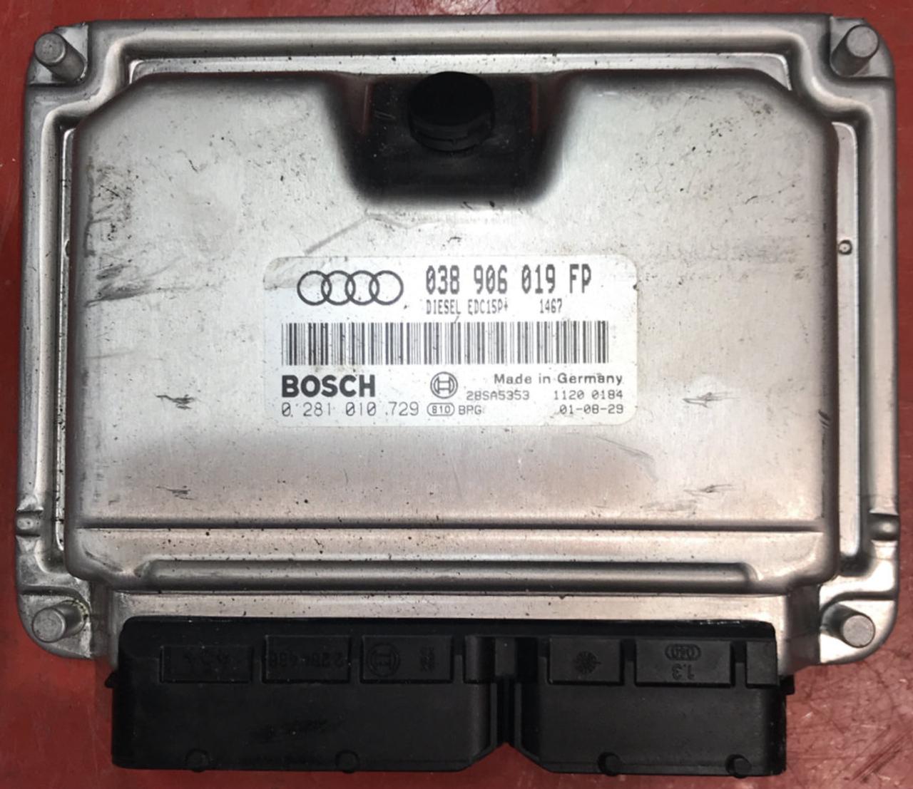 Audi A4 1.9 TDI, 0281010729, 0281 010 729, 038906019FP, 038 906 019 FP, EDC15P+