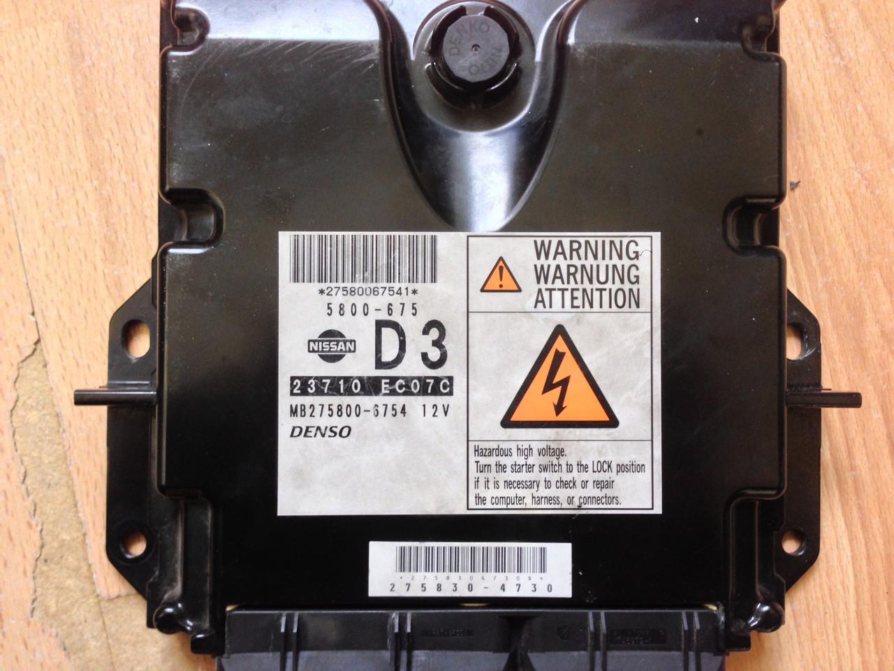 Plug & Play Denso Engine ECU, Nissan, 23710 EC07C, MB275800-6754, 5800-675,  D3