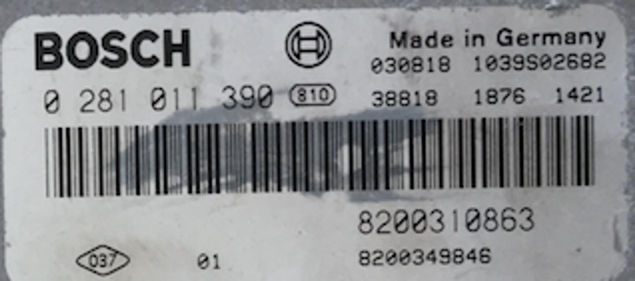 Renault Scenic 1.9 DCI, 0281011390, 0 281 011 390, 8200310863, 8200349846