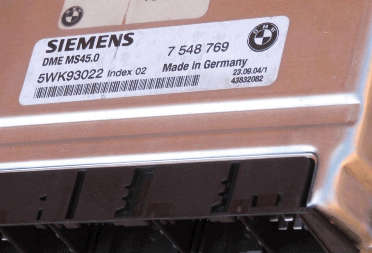 Plug & Play Siemens Engine ECU, BMW 2 5 E90, 5WK93022 INDEX 02, 7548769, 7  548 769, DME MS45 0