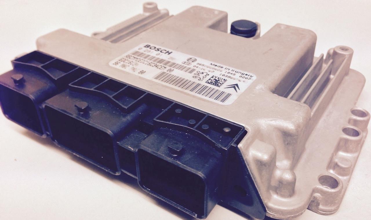 9647158180 307 1.4 HDi Motor ECU Peugeot Citroen Bosch 0281010390 Diesel