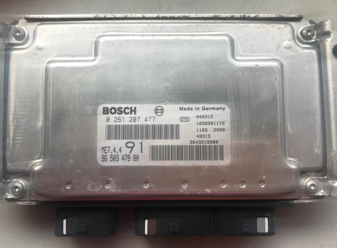 Peugeot 206 1.6i, 0261207477, 0 261 207 477, 9650347980, 96 503 479 80, ME7.4.4