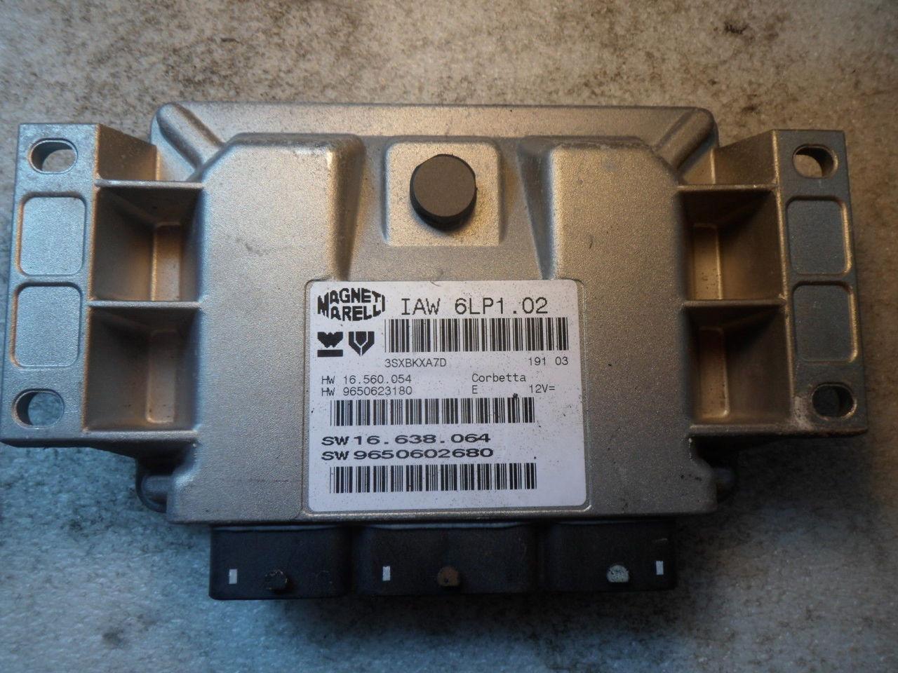 Peugeot 307, IAW 6LP1.02, HW 16.560.054, HW 9650623180, SW 16.638.064, SW 9650602680