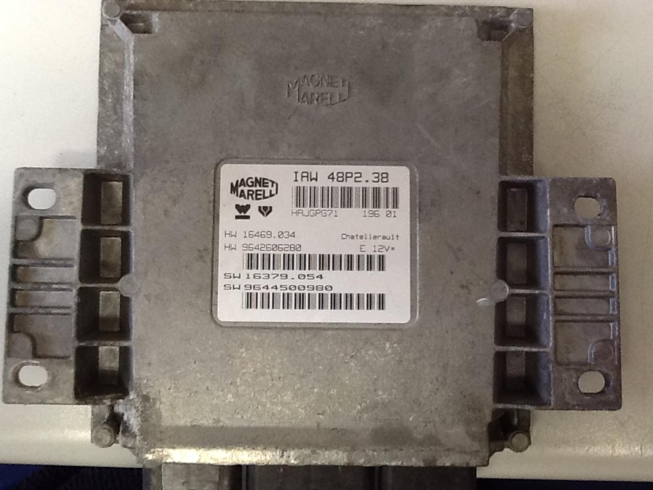 Magneti Marelli, IAW 48P2.38, HW 16469.034, HW 9642606280, SW 16379.054, SW 9644500980