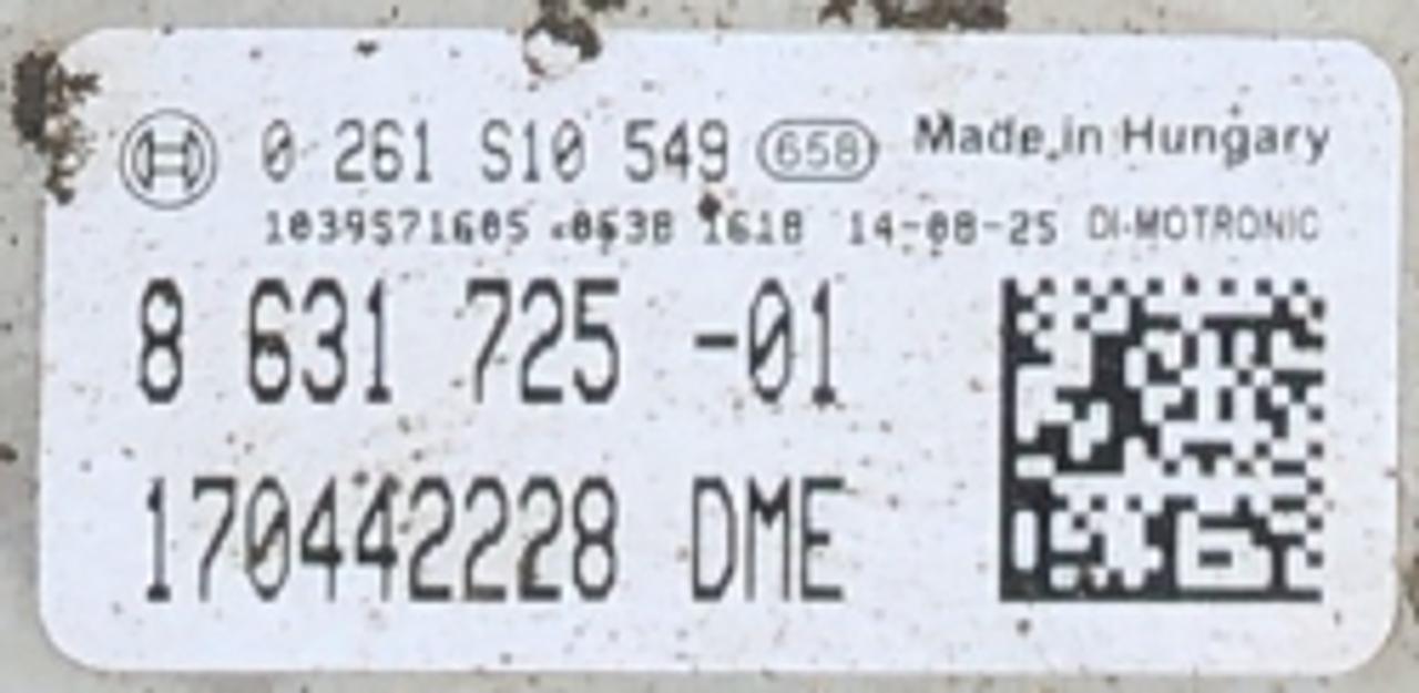 Bosch Engine ECU, BMW, 0261S10549, 0 261 S10 549, DME8631725, DME 8 631 725
