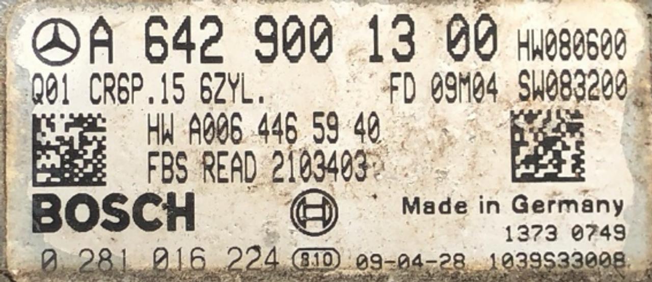 Mercedes-Benz, 0281016224, 0 281 016 224, A6429001300, A 642 900 13 00