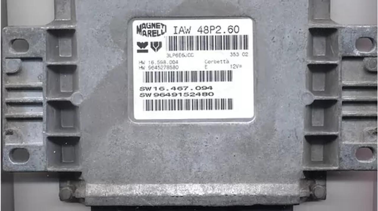 IAW 48P2.60, HW 16.598.004, HW 9645278580, SW 16.467.094, SW 9649152480
