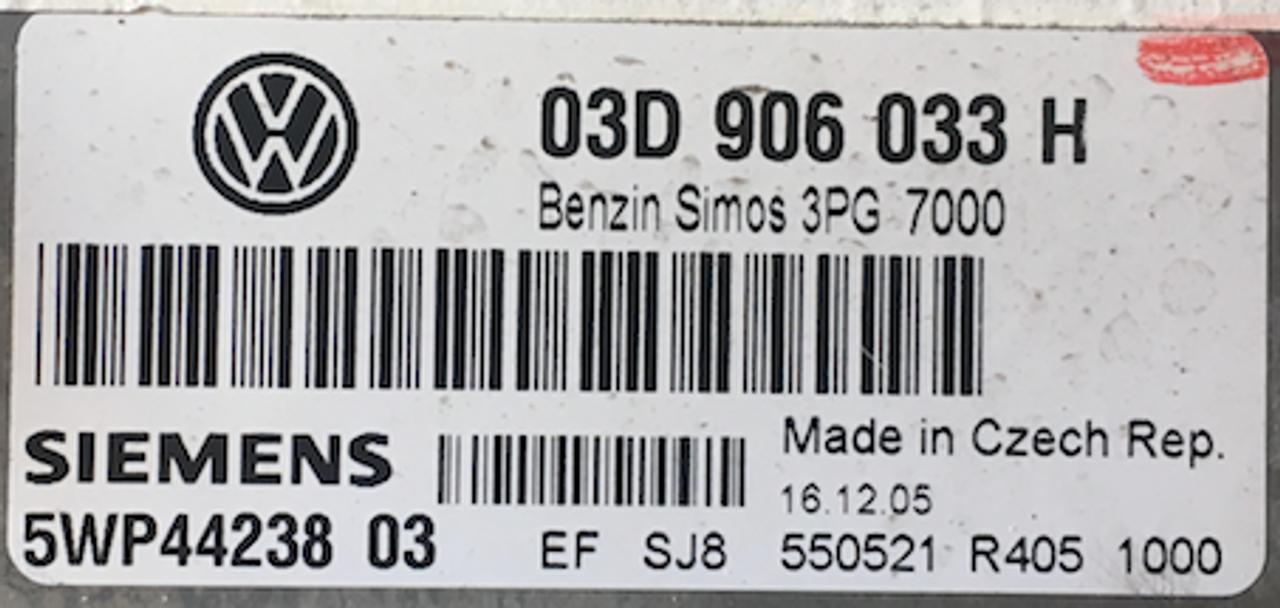 Simos 3PG, 03D906033H, 03D 906 033 H, 5WP44238 03