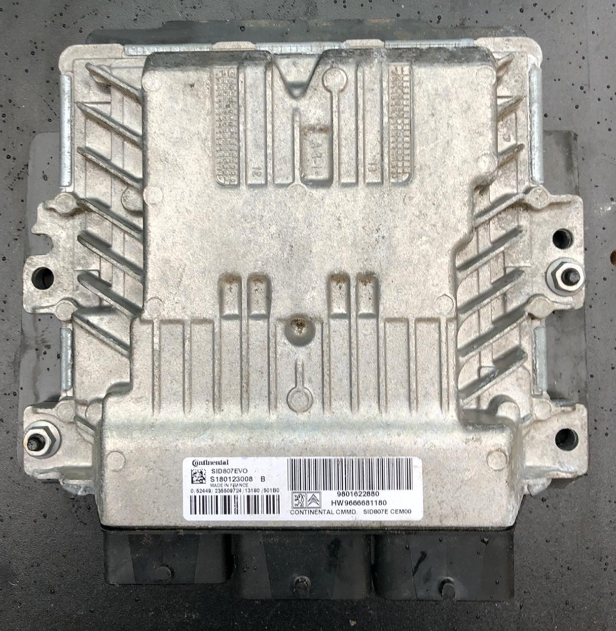 Citroen - Peugeot, SID807EVO, S180123008B, S180123008 B, 9801622880, HW9666681180