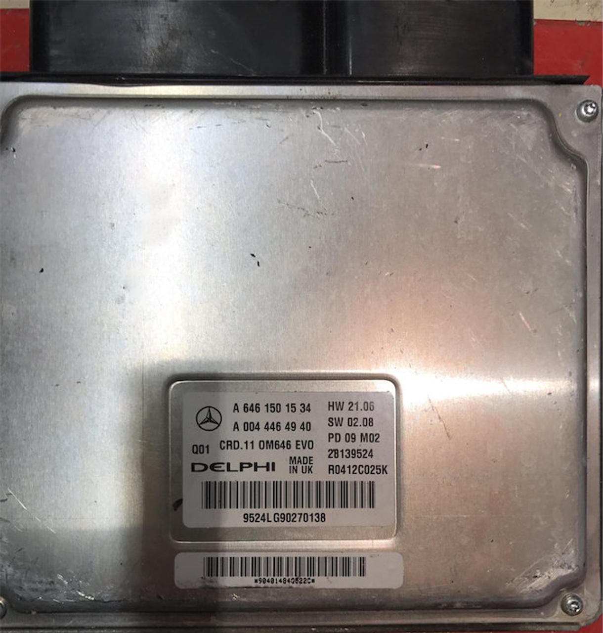 Plug & Play Delphi Engine ECU, Mercedes, A6461501534, A 646 150 15 34,  A0044464940, A 004 446 49 40, 28139524, R0412C025K, CRD 11 OM646 EVO
