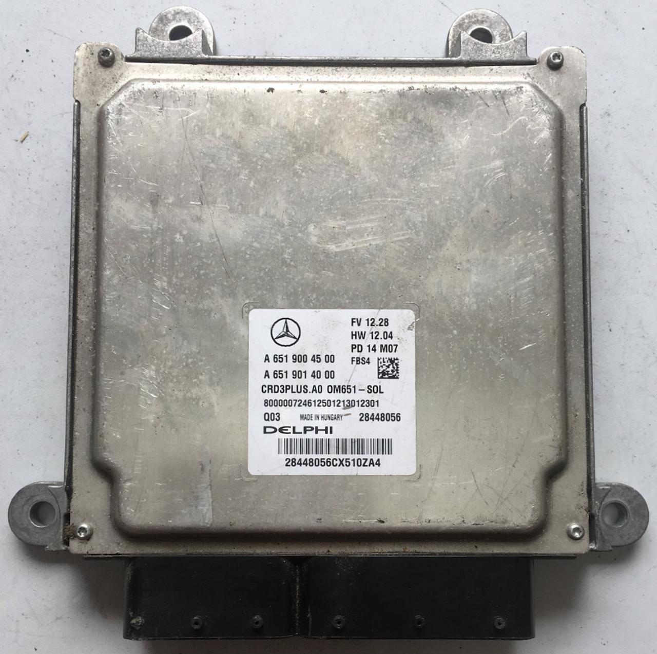 Plug & Play Delphi Engine ECU, Mercedes-Benz, A6519004500, A 651 900 45 00,  A6519014000, A 651 901 40 00, 28448056, CRD3PLUS A0, OM651 - SOL
