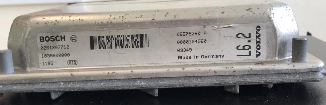 Volvo V70 2.4L Estate, 0261207712, 0 261 207 712, 1039S00000, 08675760A, 08675760 A, L6.2