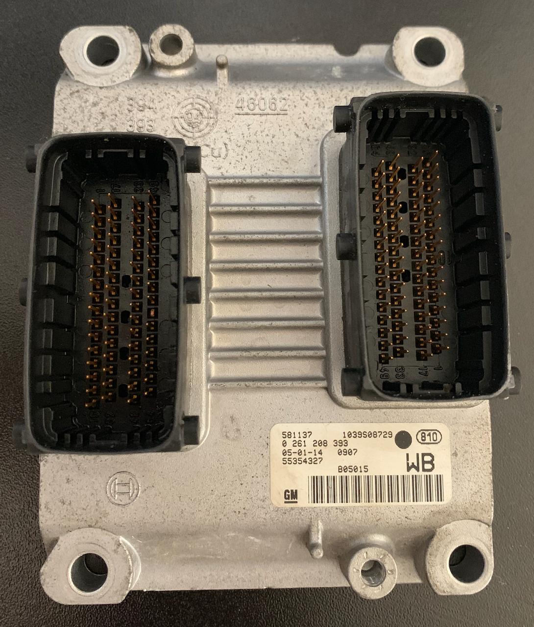 Plug & Play Bosch Engine ECU, Vauxhall/Opel Corsa 1.0, 0261208393, 0 261 208 393, 55354327, WB