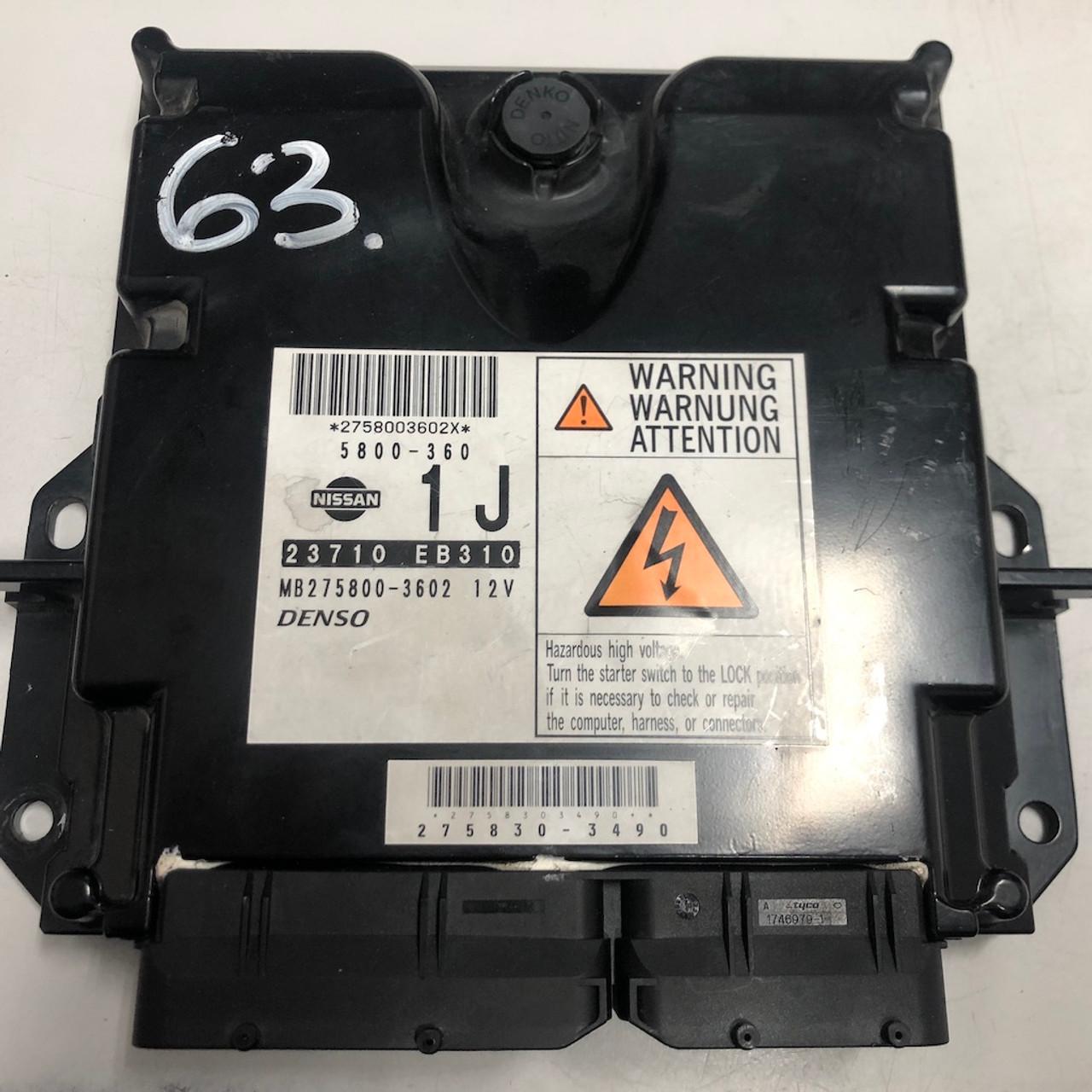 Plug & Play Denso Engine ECU, Nissan Navara 2 5DCi, 23710 EB310,  MB275800-3602 12V, 1J