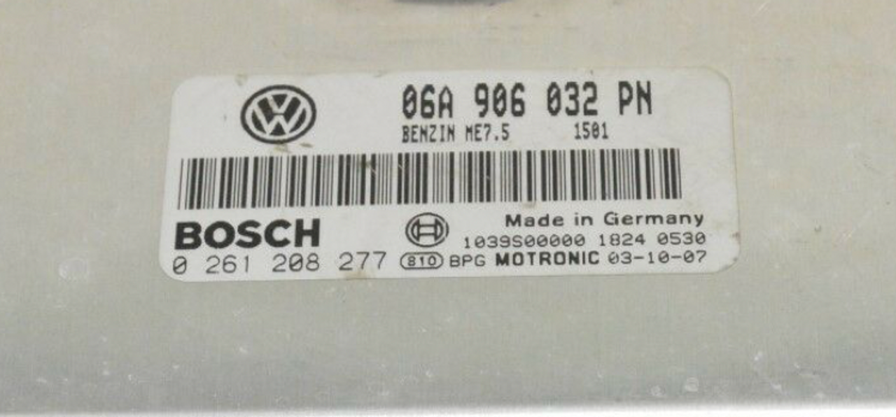 VW, 0261208277, 0 261 208 277, 06A906032PN, 06A 906 032 PN