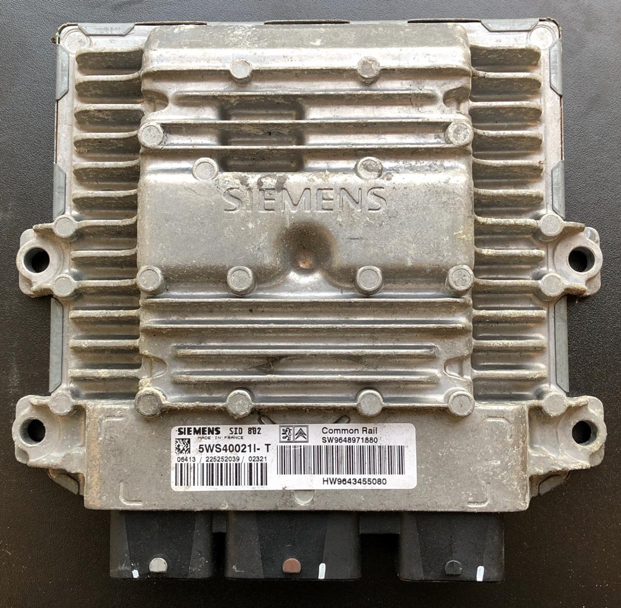 Peugeot / Citroen, SID802, 5WS40021I-T, SW9648971880, HW9643455080