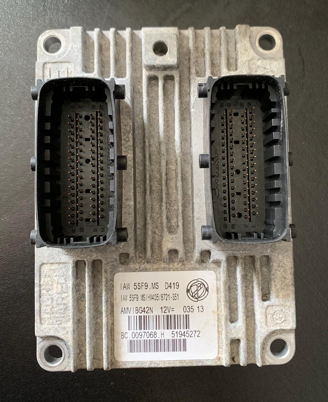 Fiat 500, IAW 5SF9.MS, HW405, BC.0097068.H, 51945272