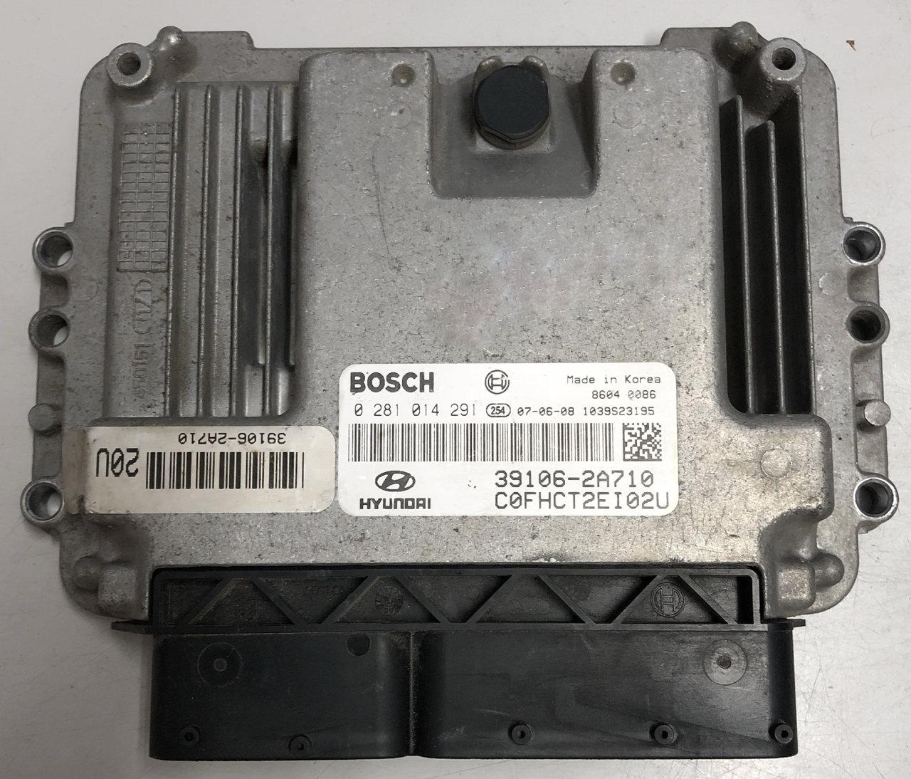 Plug & Play Bosch Engine ECU, Hyundai i30 1 6 CRDi, 0281014291, 0 281 014  291, 39106-2A710
