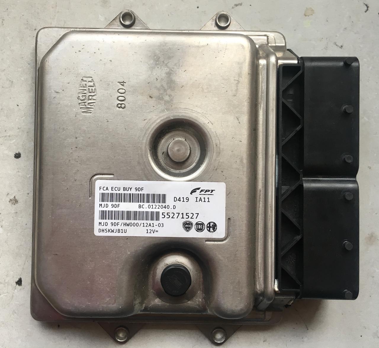 FPT Engine ECU, Fiat Doblo, MJD 9DF, BC.0122040.D, 55271527