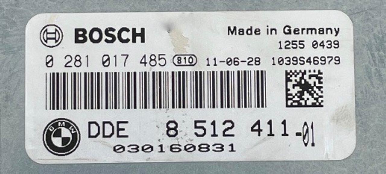 Bosch Engine ECU, BMW, 0281017485, 0 281 017 485, DDE8512411, DDE 8 512 411, 1039S46979