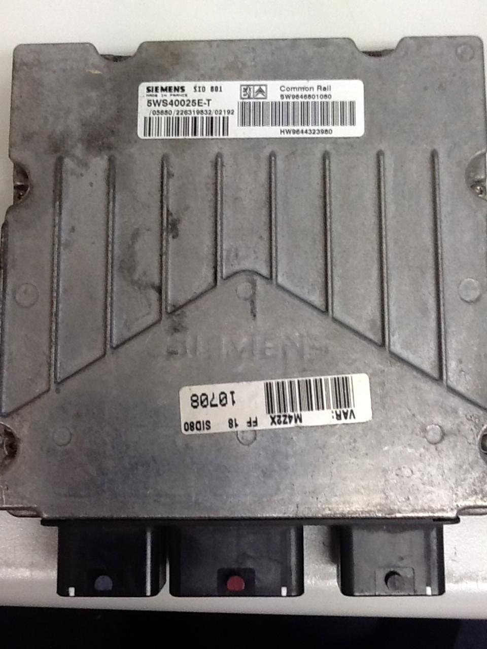 SIEMENS  SID  801 5WS40025E-T  SW9646801080  HW9644323980