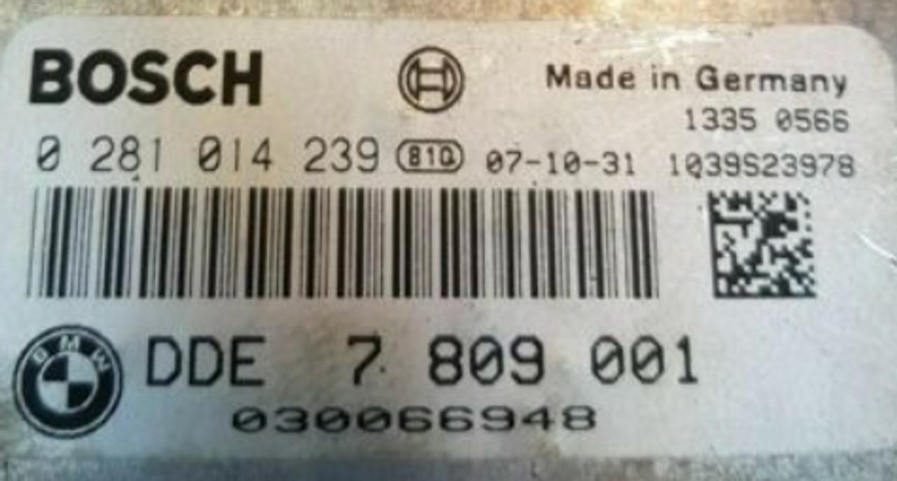 BOSCH Engine ECU, BMW 118D, 0281014239, 0 281 014 239, DDE7810001, DDE 7 810 001