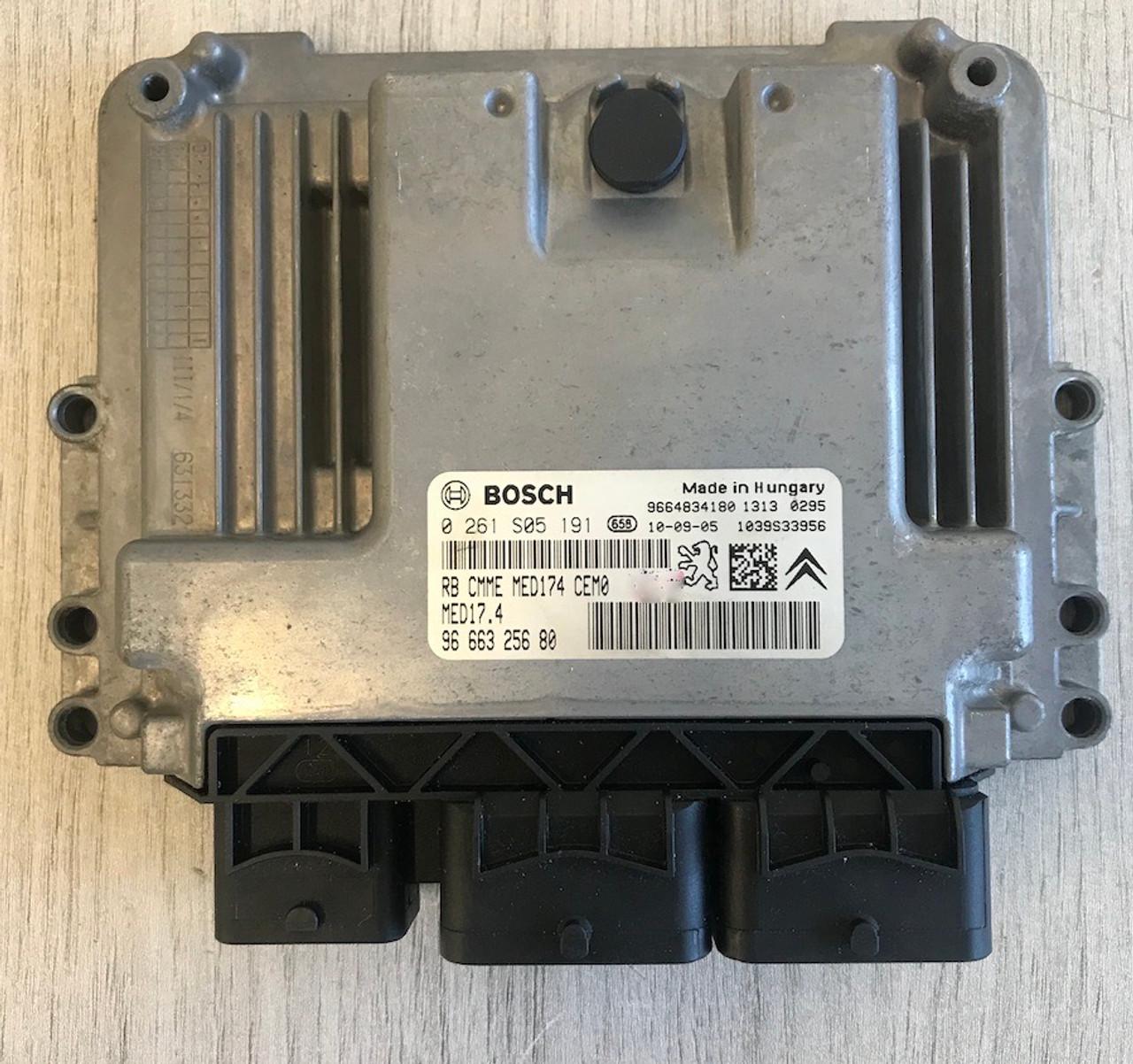 Bosch Engine ECU, Citroen DS3, 0261S05191, 0 261 S05 191, 9666325680, 96 663 256 80, 1039S33956, MED17.4