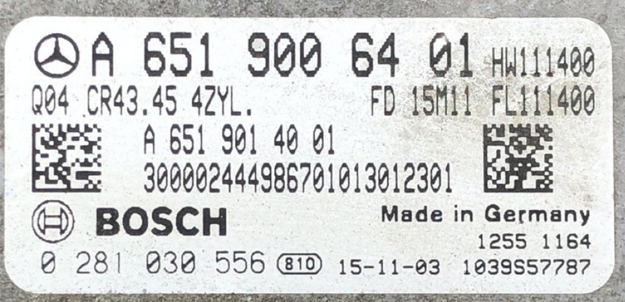 Mercedes, 0281030556, 0 281 030 556, A6519006401, A651 900 64 01, 1039S57787, CR43.45