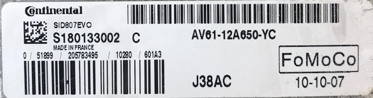 Ford C-Max , SID807EVO, S180133002C, AV61-12A650-YC, J38AC
