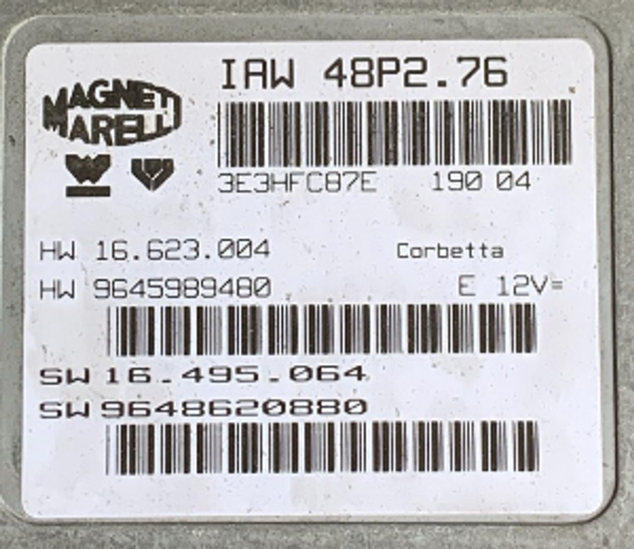Peugeot / Citroen, IAW 48P2.76, HW 16623204, HW 9645989480, SW 16495064, SW 96408880