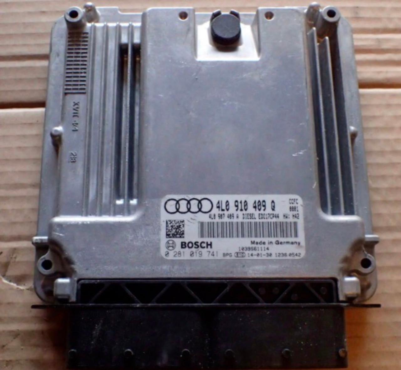 Bosch Engine ECU, Audi, 0281019741, 0 281 019 741, 4L0910409Q, 4L0 910 409 Q, 1039S61114