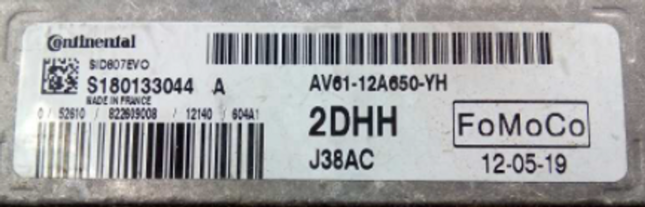 Ford , SID807EVO, S180133022A, AV61-12A650-YG, AV6112A650YG, J38AC