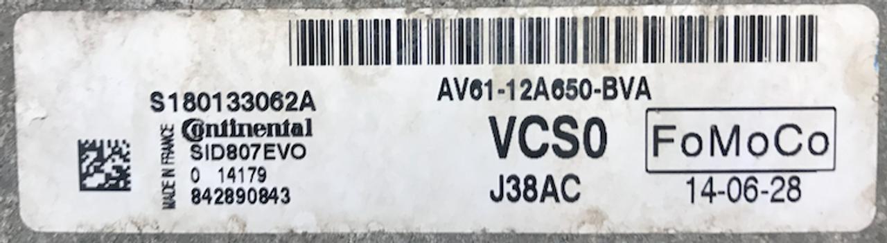 Ford C-Max, SID807EVO, S180133062 A, AV61-12A650-BVA, VCS0, J38AC