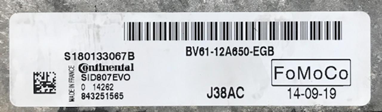 Ford Focus 1.5DCi, SID807EVO, S180133067B, BV61-12A650-EGB, J38AC