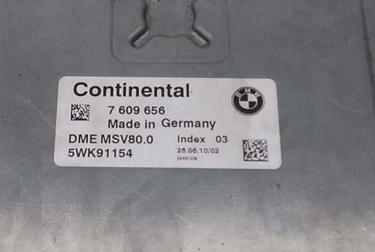 BMW, 7609656, 7 609 656, DME MSV80.0, 5WK91154, Index 03
