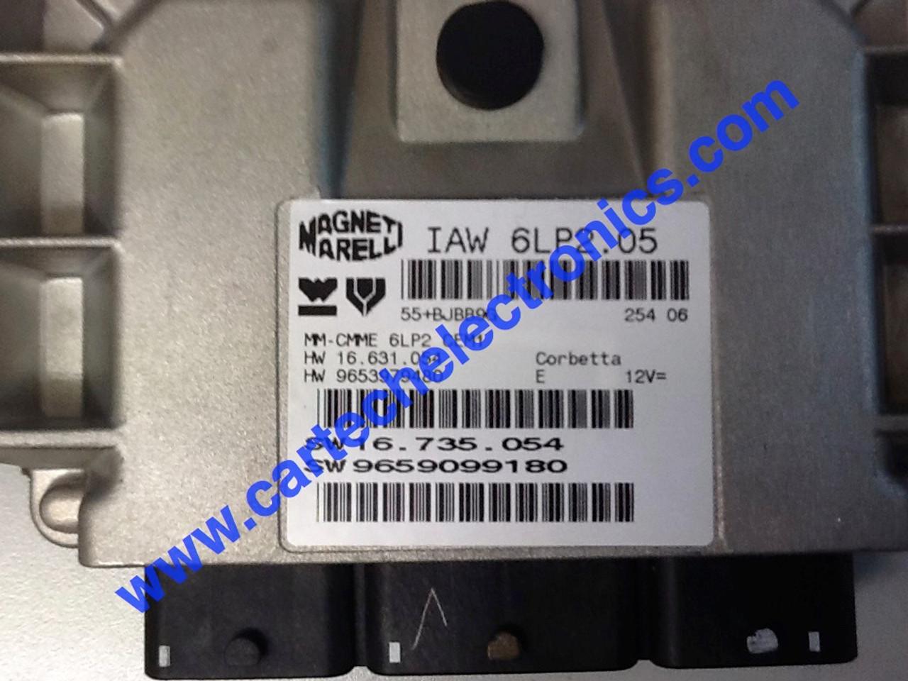 IAW 6LP2.05  HW 16.631.054  HW 9653979480  SW 16.735.054  SW 9659099180