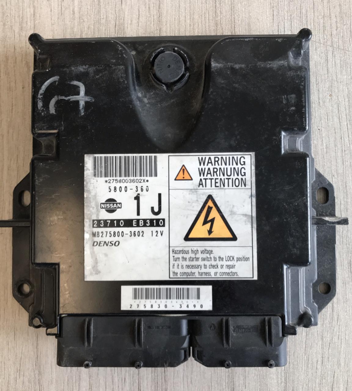 Denso Engine ECU, Nissan, 23710 EB310, MB275800-3602, 5800-360, 1J