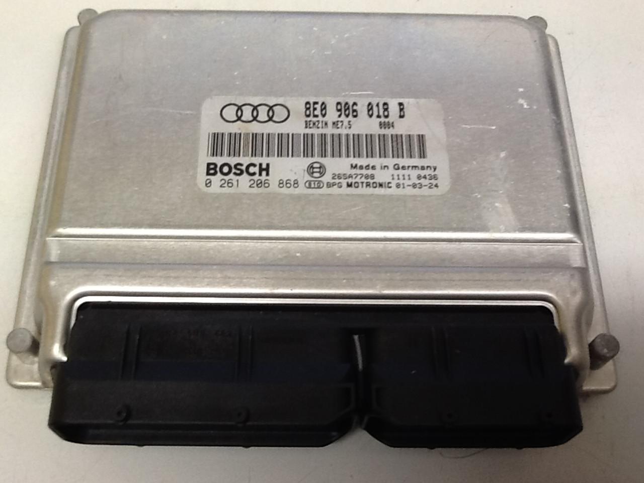 Plug & Play Bosch Engine ECU, 0 261 206 868, 0261206868, 8E0 906 018 B, 8E0906018B, ME7.5