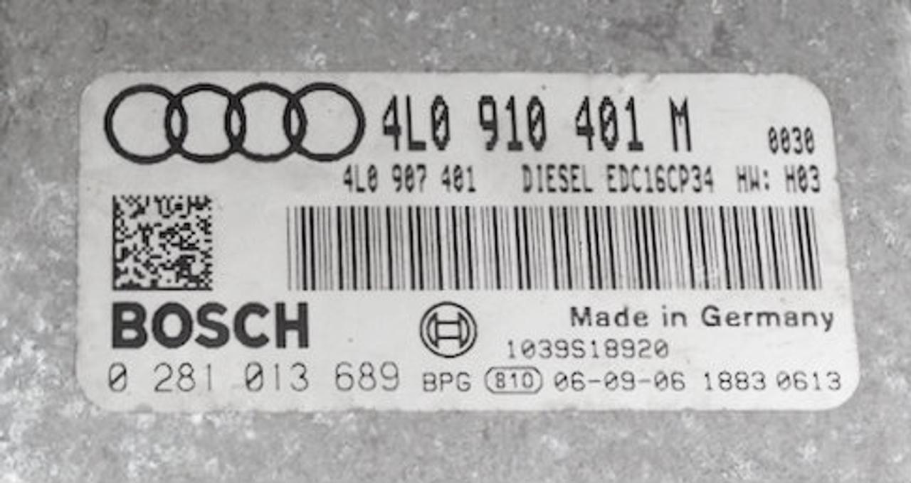 Audi Q7 3.0 TDI, 0281013689, 0 281 013 689, 4L0910401M, 4L0 910 401 M, EDC16CP