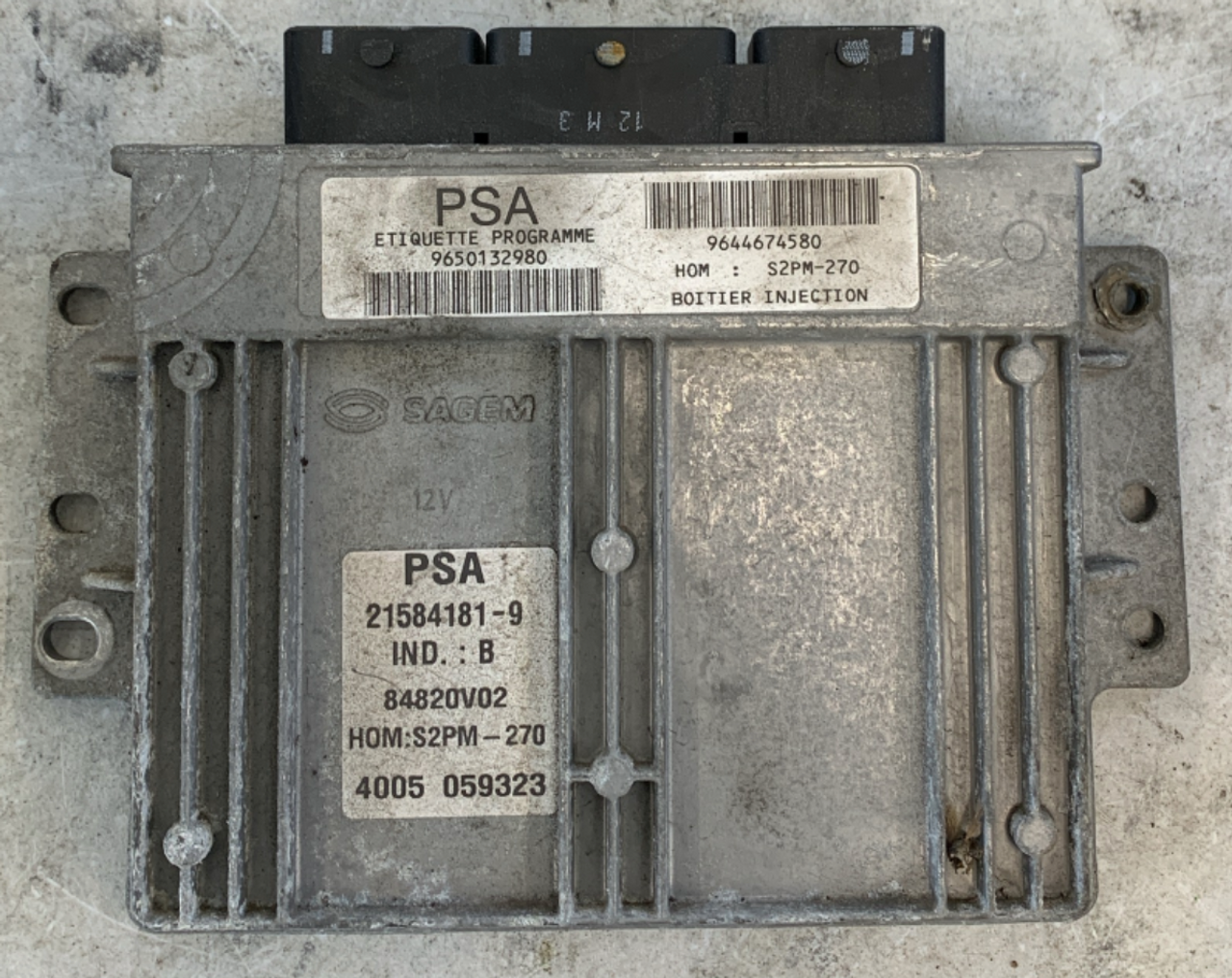 PSA, S2PM-270, 9650132980, 9644674580, 21584181-9, IND.:B