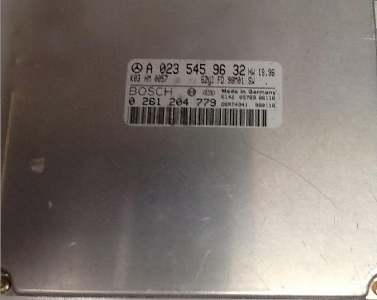 Mercedes C240 2.4L V6, 0261204779, 0 261 204 779, A0235459632, A 023 545 93 32