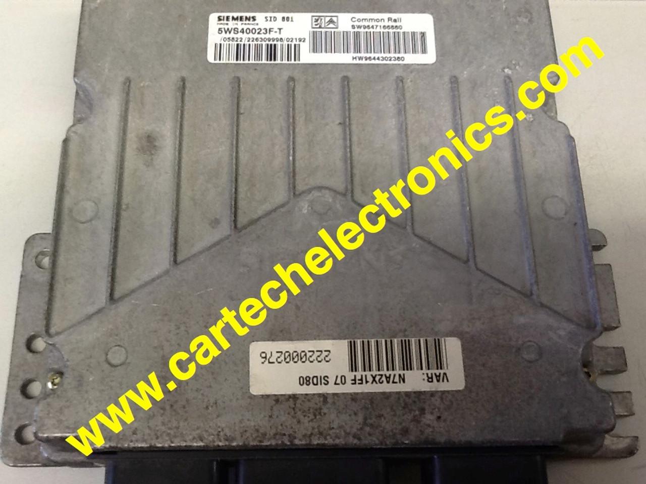 Plug & Play Engine ECU SIEMENS SID 801 5WS40023F-T SW9647166880 HW9644302380