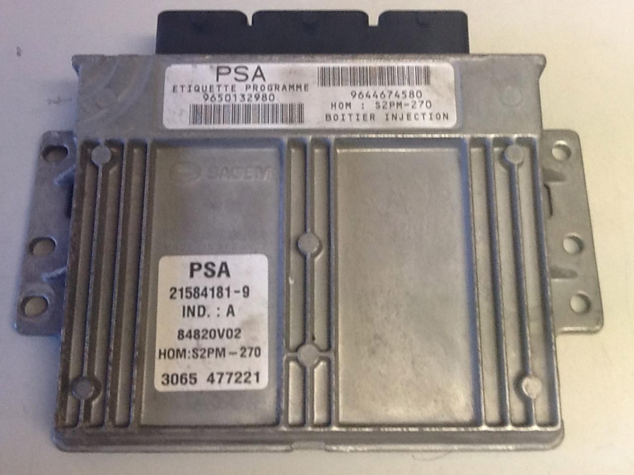 Plug & Play Engine ECU, PSA, S2PM-270