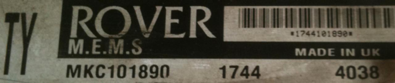 Plug & Play Rover Engine ECU M.E.M.S MKC101890 TY