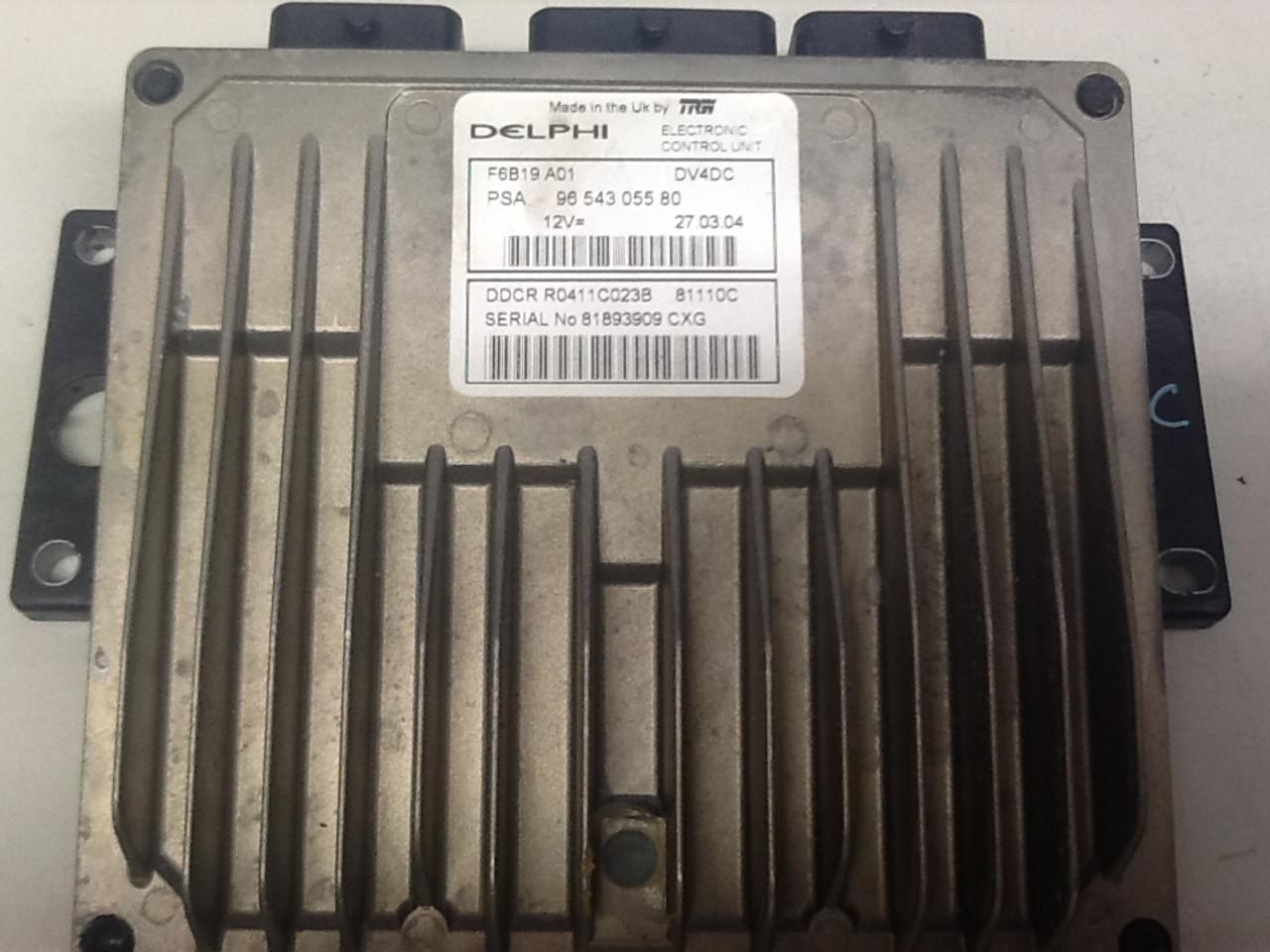 Plug & Play Engine ECU DELPHI PSA 9654305580 DV4DC DDCR